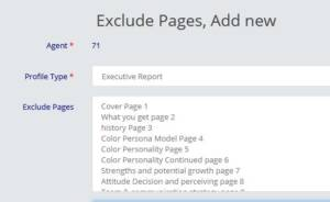colorpersona exclude pages