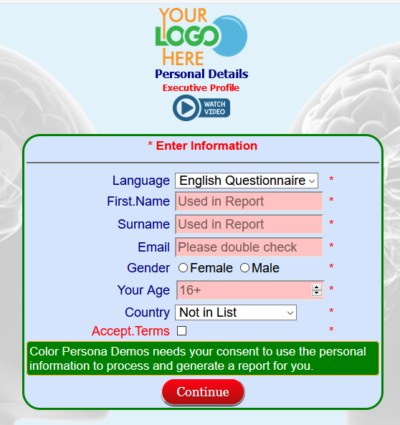 Profile Questionnaire Insight details page