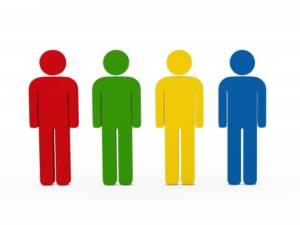four men coloured